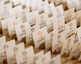 Upcycled Wine Cork Place Card Holders - Set of 25