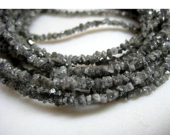 ON SALE 55% Rough Diamonds - Sparkling Grey Rough Diamond Beads - Natural Raw Uncut Diamond Beads - 2mm To 3mm - 16 Inch Strand