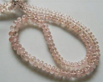 ON SALE 55% Morganite Bead, Morganite Jewelry, Morganite Stone, Morganite Necklace, 7-11mm Each, 40 Pieces Approx, 8 Inch Strand