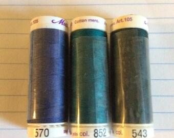 SALE three spools thread ,Mettler Silk finish, item 23