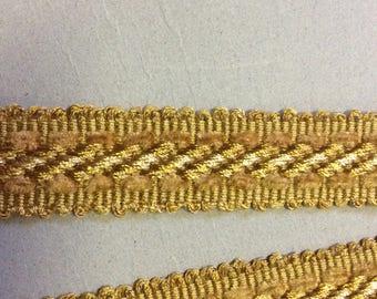 SALE 5.3/4 yard piece golds finishing trim item #A11