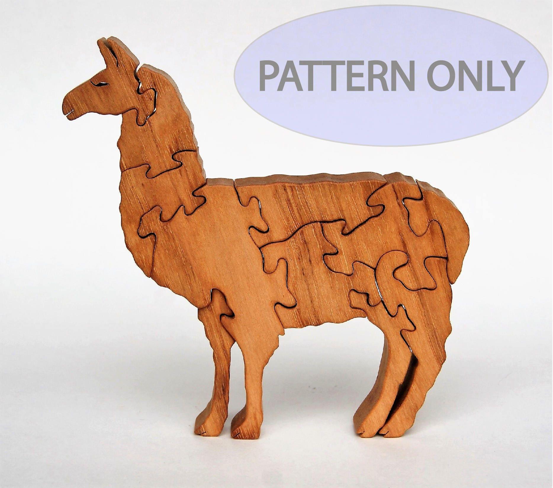 Llama Wooden Puzzle Scrollsaw Pattern PDF Digital Download Woodworking Plan Wood Puzzle Patterns ...
