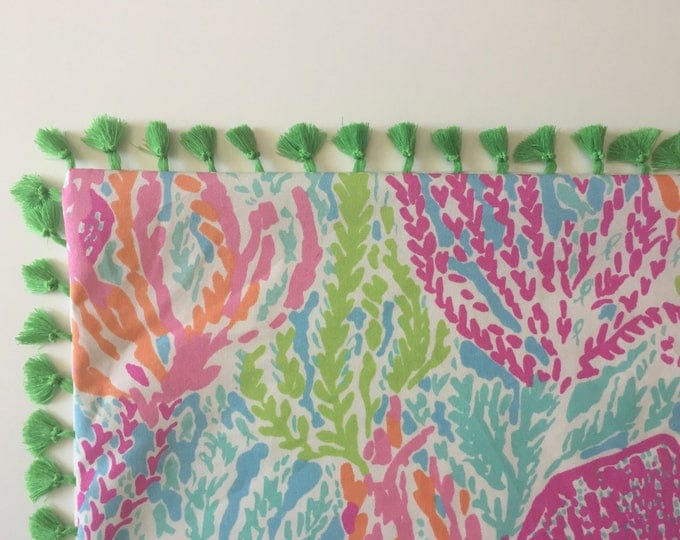 Custom Made Lilly Pulitzer Lets Cha Cha in  Tiki/Shorely Table Runner,  FREE SHIPPING 14x90, 14x108, 14x120