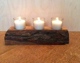 Wooden  Candle Holder, , Rustic Candle holder, Rustic , Hardwood candle holder,
