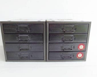 Vintage Metal Parts Drawers, Industrial Storage Box, Union Chest 410, Craft Storage, Button Storage, Industrial Decor