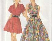 Halter Dress Pattern Full Skirt Pockets Misses Size 6 - 8 - 10 - 12 - 14 - 16 Uncut New Look 6703