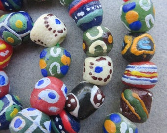 Mixed Krobo Glass Beads
