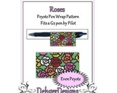 Peyote Beading Pattern (Pen Wrap/Cover)- Roses