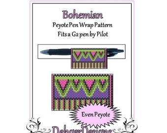 Bead Pattern Peyote(Pen Wrap/Cover)-Bohemian