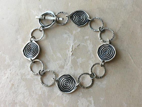 Lightweight Bracelet | Silversmith Jewelry | Hammered Silver Bracelet