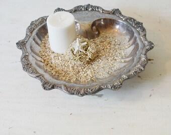 Silver Shell Dish, Silver Seashell Dish, Silver Clam Shell Dish, Silver Seashell Dish, Silver Shell Bowl, Coastal Decor, Silver Seashell