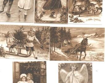 230 - Tip sepia vintage Christmas card
