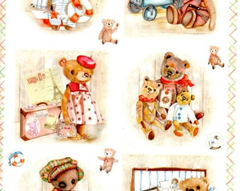 Picture sheet to be cut cubs at the beach.