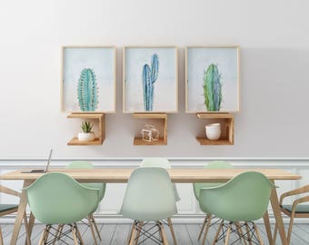 Cactus Art Prints, Watercolor Cactus Art, Tropical Wall Art, Set of 3 Cactus Wall Art, Southwest Boho Wall Decor Art , Boho Nursery Wall Art