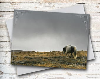 Horse Note Card, Wild Horse Card, Wild Mustang Card, Thinking of You, Thank You Card, Sympathy Card, All Occasion Card, Horse Stationery