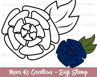 Flower 4  Digital Stamp 300 dpi png