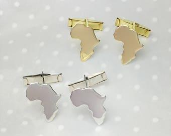 Cufflinks Africa Map Gold Plated Nu Gold Africa Map  africa Ethiopia  - Adoption  Ethiopia Ciondolo africa