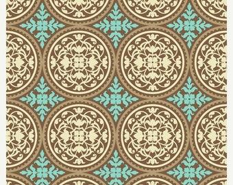 SALE 10% Off - Joel Dewberry - AVIARY 2 - Scrollwork in Caramel  JD44 - Free Spirit Fabric - 1 Yard
