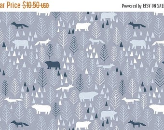 SALE 10% Off - Icy Pines in Grey  581 - THE BIG Chill - Dear Stella Design Fabric - By the Yard