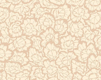 Beige Abstract Quilting Fabric,Pelargonium Leaves Cream PWSL059, ENGLISH GARDEN,Snow Leopard,Philip Jacobs,Free Spirit Fabrics, By the Yard