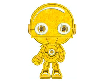 STAR WARS C3Po * Machine Applique Embroidery * Instant Digital Download
