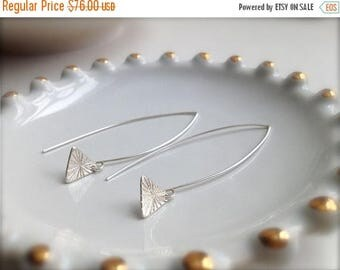 SALE Tiny Burst Triangle Sterling Silver Earrings