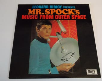 VERY RARE! 1986 - Leonard Nimoy Presents Mr Spock's Music from Outer Space - LP Vinyl Record Album - Sci Fi / Star Trek / Alien /