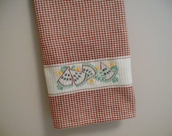 kitchen dish towel cotton embroidered towel machine embroidered towel watermelon  kitchen towel