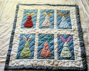 Bunny Rabbit Baby Quilt