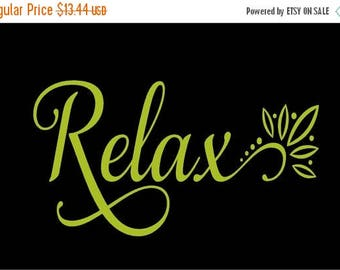 20% OFF Relax  Bathroom-Vinyl Lettering wall words graphics  decals  Art Home decor itswritteninvinyl