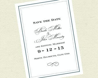 Formal elegant Save the Date, Wedding Save the Date,