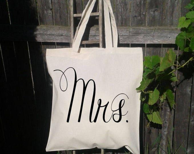 Mrs. Bride Tote Bag, Mrs Bride to Be, Wedding Tote Bag