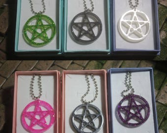 Pentacle  resin necklace - made to order