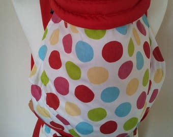 MEI TAI Baby Carrier / Sling  / Reversible / Spotty Fiesta with Red in  straight cut model