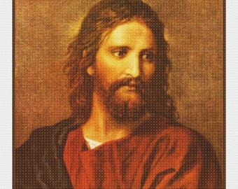 Sweet Sale DIGITAL Download Heinrich Hofman's Jesus Christ at 33 Counted Cross Stitch Pattern