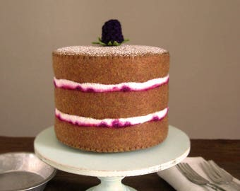 NEW Felt Food Blackberry Layer Cake