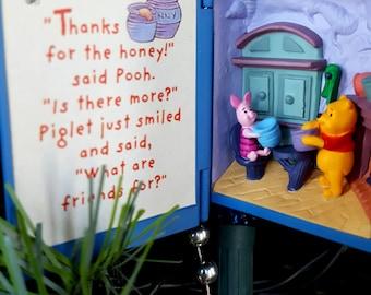 1998 Winnie the Pooh Series Hallmark Keepsake Ornament No. 1,  Book Style Ornament, A Visit From Piglet