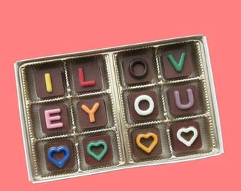 ship AFTER 8/7 Womens Mens Personalized Chocolate Box Gift for Him Her Customized Girlfriend Boyfriend I Love You Custom Name Jelly Bean Cho