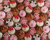 RESERVED - 4 dozen mini farm animal cookies