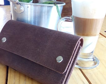 Leather Travel wallet / pouch / journal