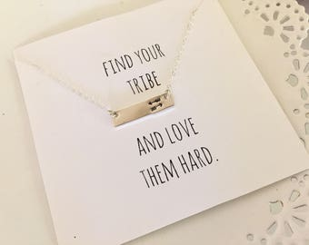 Find Your Tribe And Love Them Hard | Arrow Necklace | Double Arrow Necklace | Tribe Jewelry | Tribe Necklace | Find Your Tribe Necklace