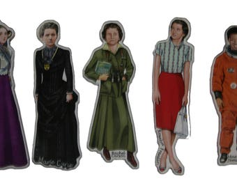 Women in Science Magnet set
