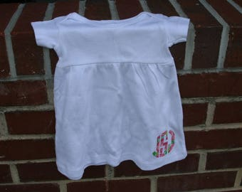 Personalized  0-6 Month Baby Dress - Great for baby showers
