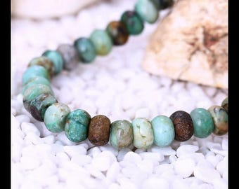 Natural Chrysocolla Gemstone Loose Beads,1 Strand,10x7mm,10x8mm,34cm In the length,61.9g(h0782)