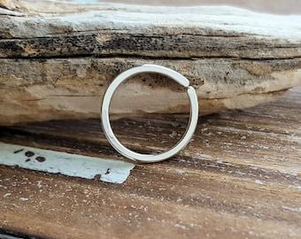 Argentium Silver Nose Ring, Endless Hoop, Cartilage Earring, 18 gauge Seamless Hoop - 7mm 8mm 9mm 10mm 12mm ID