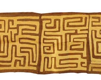Kuba Textile Appliquéd Raffia Congo 14 Feet African Art 99913