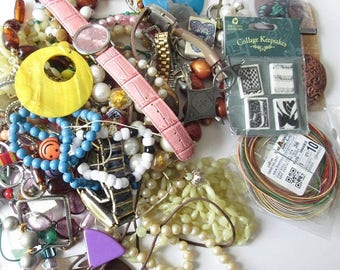 On Sale Junk Jewelry Lot Craft Destash Supplies Jewelry Making Lot Beads Watches