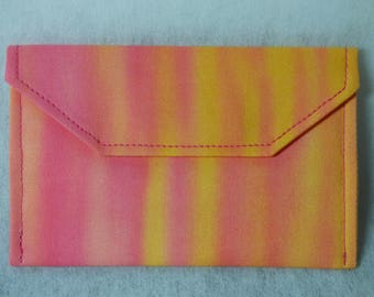 Pink & Yellow Ombre Fabric Card Holder