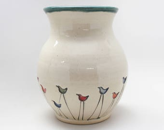 Walking Bird Flower Vase