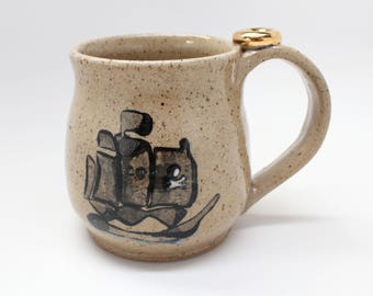 Pirate Ship Mug, Ready To Ship